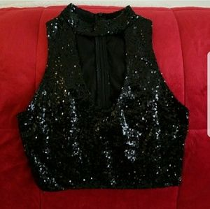Gorgeous Sequin Cropped Top